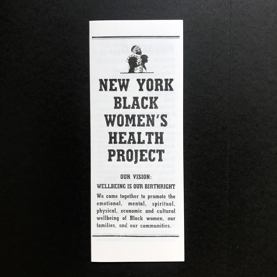 New York Black Women's Health Project 1989 leaflet